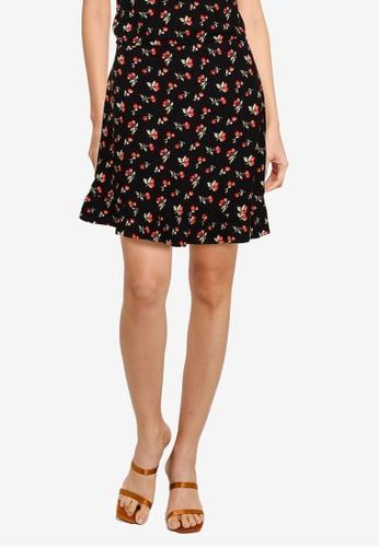 Abercrombie & Fitch black Ruffle Mini Skirt 82308AAB53EC1EGS_1