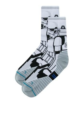STANCE white Storm Trooper Socks ST488AA0S5FSMY_1