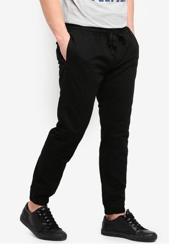 Brave Soul black Fine Cotton Twill Pants with Cuff Hem 42BE3AAB3268EBGS_1