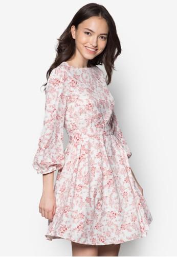 Dila 碎花連身zalora時尚購物網的koumi koumi裙, 服飾, 夏日洋裝