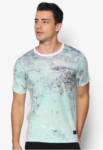 Soil 印花拼接短袖TEE, 服飾, 印圖esprit outlet台北T恤