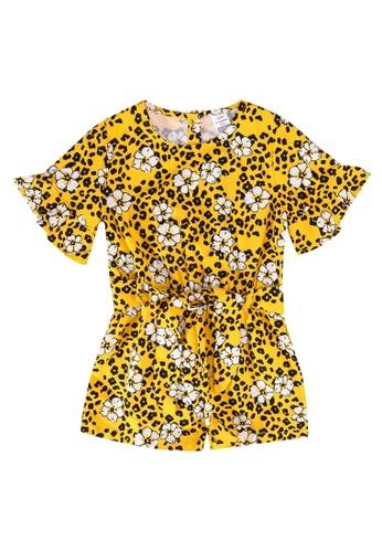 LC Waikiki yellow Baby Girls Poplin Playsuit 8B729KA2D67B1CGS_1