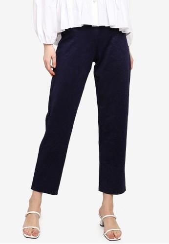 Gene Martino blue Straight Cut Pants 1982BAA268EAD8GS_1