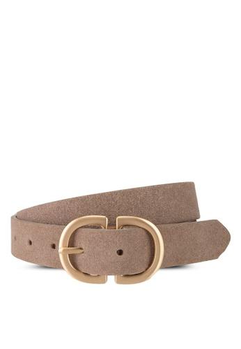 Pieces beige Juva Suede Jeans Belt F1294AC977B2D4GS_1