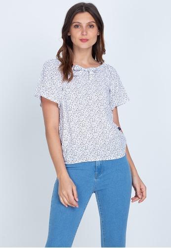 No Apologies white Woven Printed Rayon Short Sleeves Blouse E3E0FAA4E52F0BGS_1