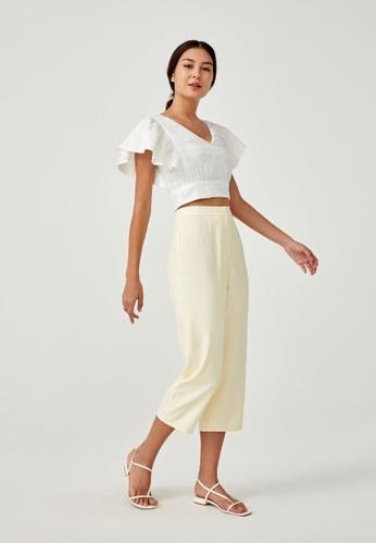 Love, Bonito yellow Lorette Tailored Peg Leg Pants 3AF59AA50BF4B2GS_1