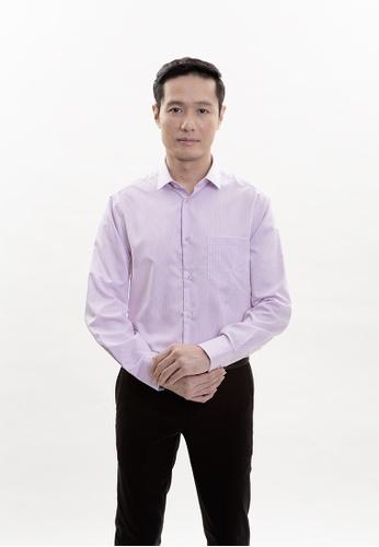 Goldlion purple Goldlion Nanotech Wrinkle Free Long-Sleeved Shirt C89EAAAD328082GS_1