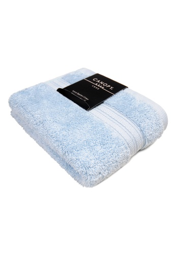 Canopy blue Canopy Luxe Egyptian Cotton Hand Towel Luxurious,Ultra Soft, 640gsm Thick Quality (Design: Premium)(45x65cm) CE0B0HL92BB068GS_1