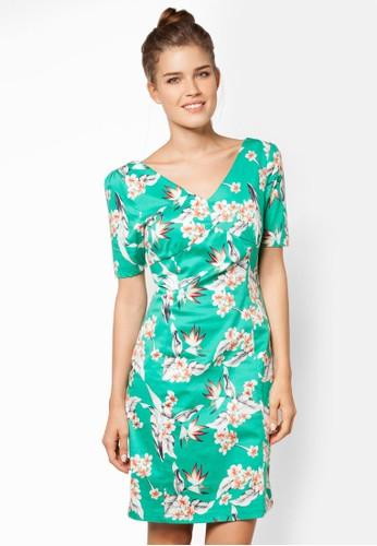 天堂鳥V 口洋裝zalora 衣服尺寸, 服飾, 洋裝