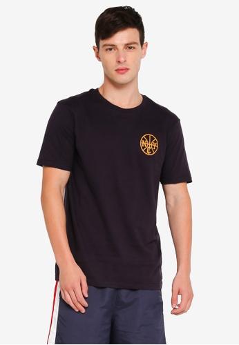 Cotton On 海軍藍色 休閒印花T恤 707A0AA13C2610GS_1