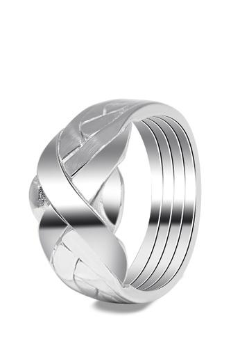SC Tom Silver silver Men's Puzzle Ring SC872AC0JDDRPH_1