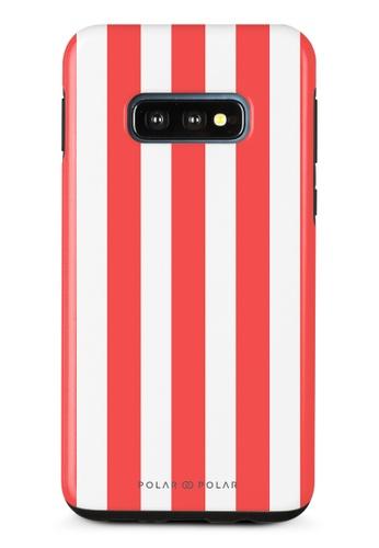 Polar Polar red Scarlet Stripe Samsung Galaxy S10E Dual-Layer Protective Phone Case (Glossy) 98E03ACD67AEE5GS_1