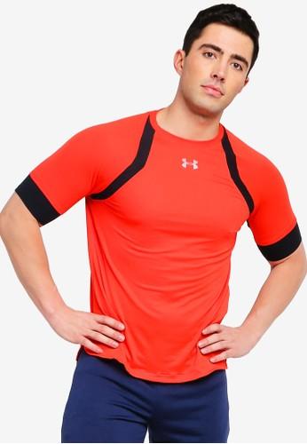 Under Armour red Hexdelta Short Sleeves Tee 0B6C7AAF334569GS_1