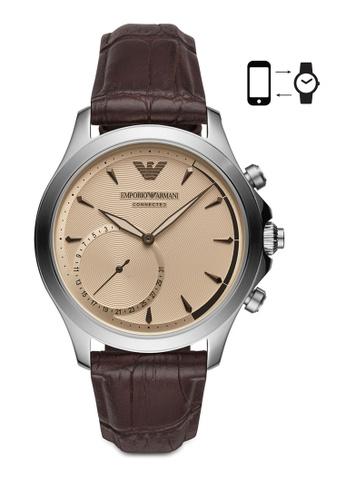 ARMANI brown Armani Alberto Brown Smart Watch ART3014 AR024AC0SM3FMY_1