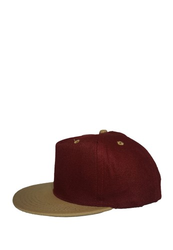 Rumah Topi red and beige SNAPBACK MAROON CREAM 4B6DEAC4CD02F7GS 1 53796c0278
