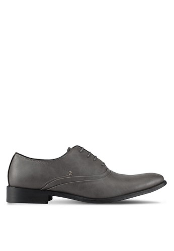 ZALORA grey Faux Leather Business Shoes 76F55AAA3CF678GS_1