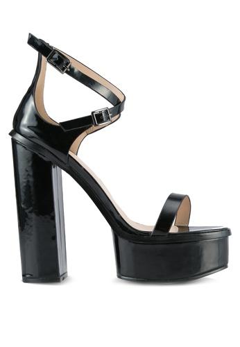 Public Desire black Louisiana Strappy Platform Heels PU378SH0SIQ1MY_1