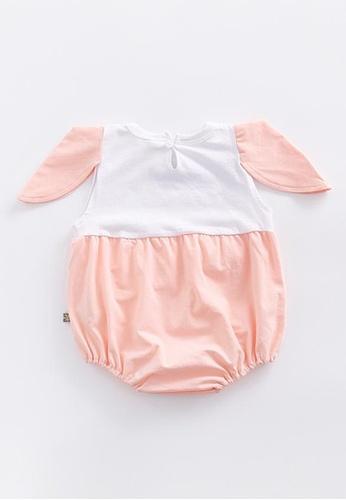 Little Kooma orange Baby Girl Bunny Rabbit Bodysuit - 0902 Orange B1364KA787E29FGS_1