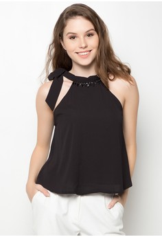 Halter Blouse with Embellishment