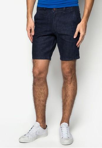 Afro 簡約丹寧短褲, 服飾,esprit outlet 台中 短褲