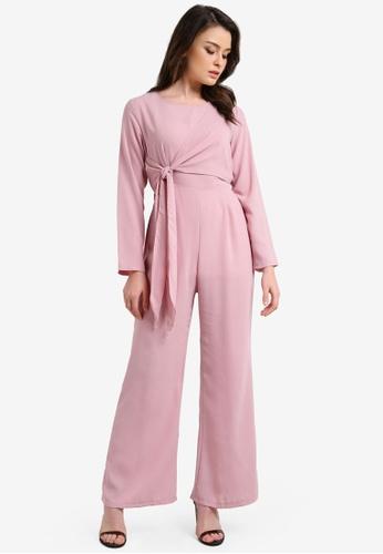 BYN pink Long Sleeve Jumpsuit BY059AA0RRRHMY_1