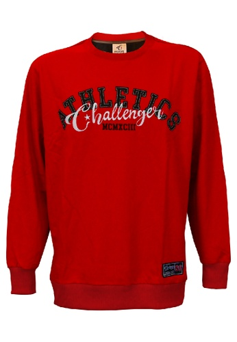 Challenger red Challenger Men Big Size Long Sleeve Sweater With Emb 0XL-6XL Plus Size CH7016 (Red) 61AD5AA73A0627GS_1