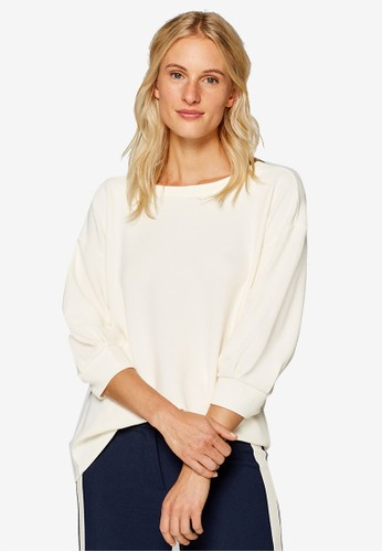 ESPRIT white Long Sleeve Sweatshirt 71F67AABA562C5GS_1