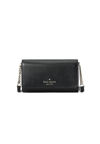 Kate Spade black Kate Spade Staci Small Flap Crossbody Bag Black WLR00132 351CEACA98520CGS_1