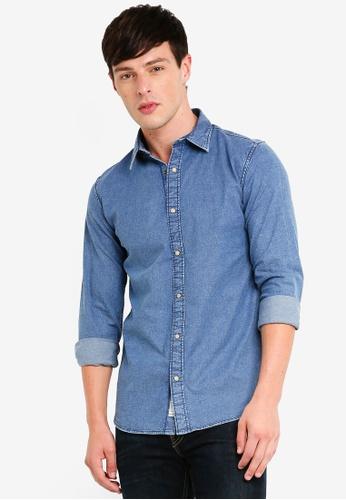 a04c6deb78 Jack   Jones blue Luis Denim Shirt 46644AAB4C5EE7GS 1