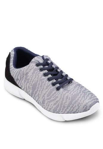 白色細紋印花繫帶運動鞋, 鞋,esprit 中文 運動鞋
