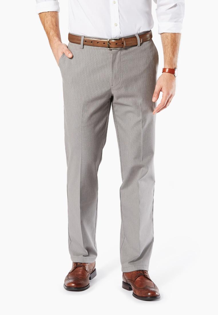 Straight Dockers Khaki Grey Stretch Burma Pants Burma Signature Dockers Grey qwxta7B4W
