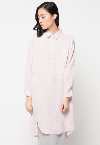 Envy Look pink Long Box Blouse EN694AA18CSRID_1