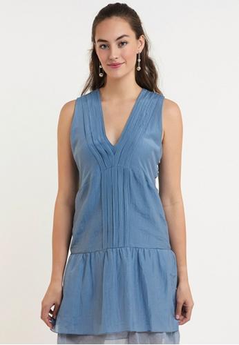 Akosée blue Bondi Short Dress D8BE5AA3BB5030GS_1