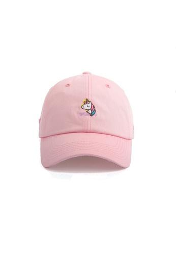 M-Wanted pink M.Unicorn X Cheesy Love Baseball Cap 62229ACD57C928GS_1