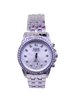 Japan Design Silver Plating Lady Fashion Crystal Watch