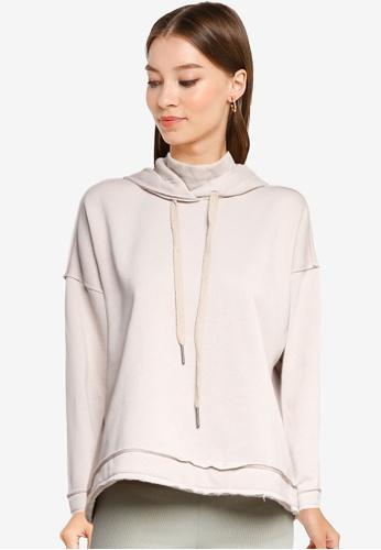 Noisy May grey and beige Sally High Neck Sweatshirt 3C7C9AA5E2F616GS_1