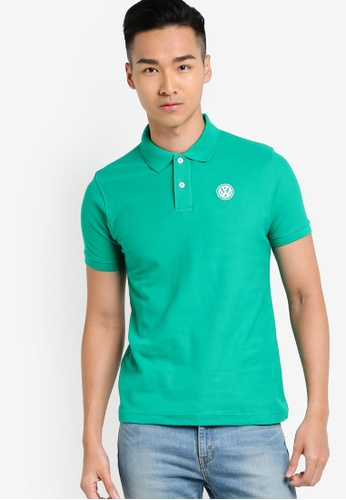 Volkswagen green Basic Polo Shirt VO089AA18JLPMY_1