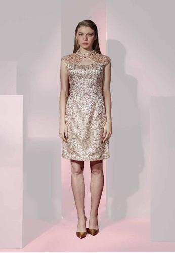 中國風改良式小花亮片短旗袍, 服飾, esprit 童裝派對洋裝