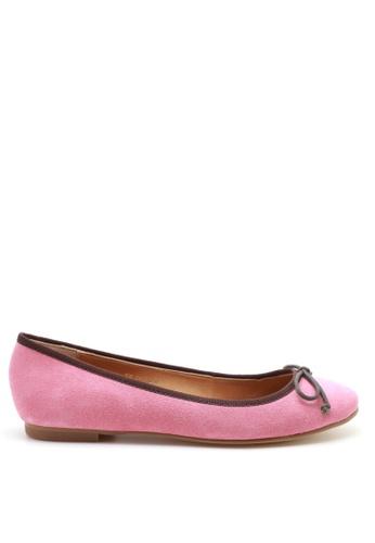 PRODUIT PARFAIT pink Suede Ballerina 5678FSH1FFD46CGS_1