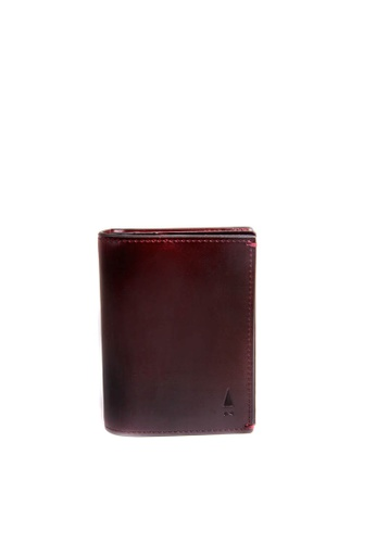Gnome and Bow brown Oxblood Brown Leather Cardholder GN097AC40LPZSG_1