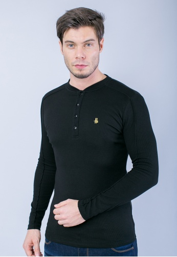 H2 by LEEYANARAHMAN black Signature Shirt in Black LE767AA0T0PPMY_1