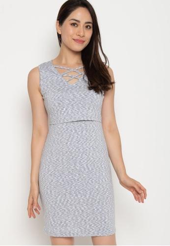 e0b6d95d47fe3 MOTHERCOT grey Divya Bodycon Nursing Dress in White Grey 073C1AA599CFCDGS_1