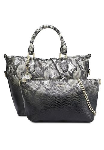 Desigual black Florida Snake Bag DE160AC0RK07MY_1