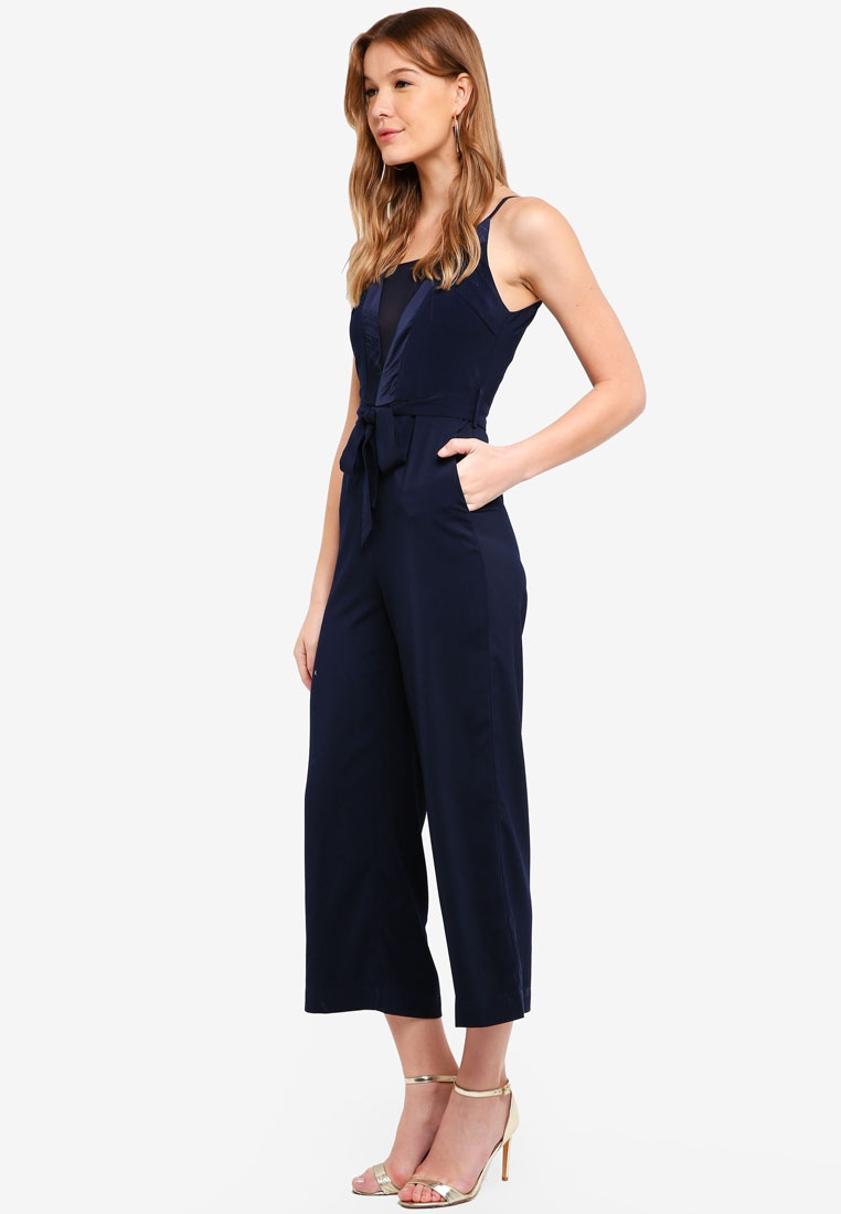 amp; With Preen Self Navy Proper Jumpsuit Cami Belt 1qTawq