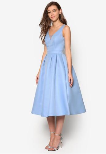 Orlaith 露肩傘esprit香港分店地址擺洋裝, 服飾, 洋裝