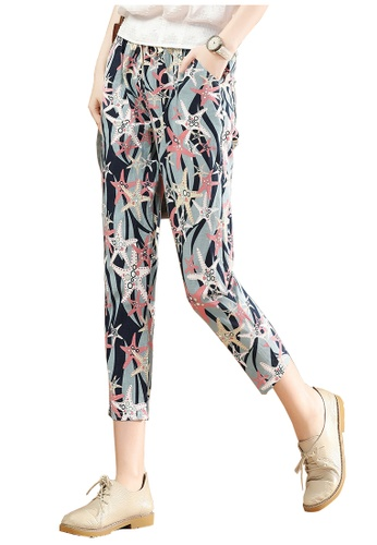 A-IN GIRLS multi Elastic Waist Vintage Printed Trousers AF0D0AA2A213D4GS_1