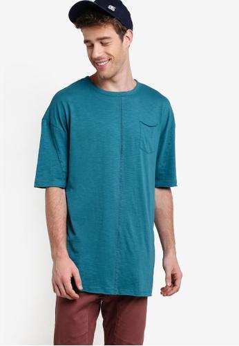 Factorie 綠色 短袖寬鬆Tee FA880AA58XSFMY_1