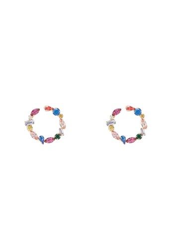 ALDO 多色 鑽飾圓圈耳環 DE0C9ACC812B26GS_1