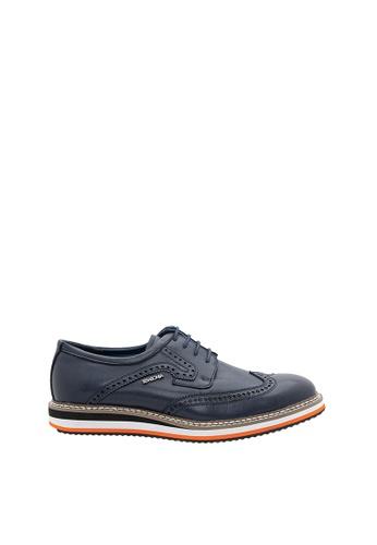 SEMBONIA blue SEMBONIA Men Microfiber Sneaker (Dark Blue) 10A24SH0236E5CGS_1