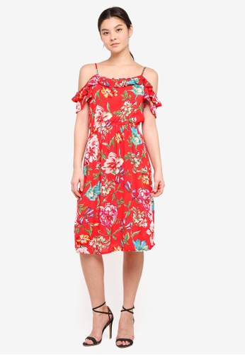Dorothy Perkins red Petite Red Crinkle Dress 4DDF3AA35B0E1FGS_1